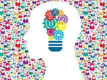 Head gears lamp creative icon Stock Image