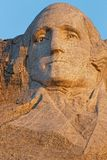 Head of George Washington at Mount Rushmore stock photos