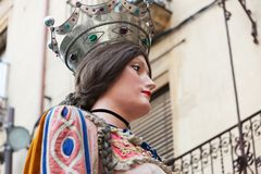 Head of Gigant of Queen in Valls Royalty Free Stock Photos