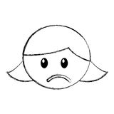 Head girl sad expression Stock Images