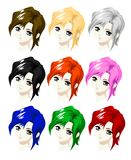 Head girl style manga Stock Photo