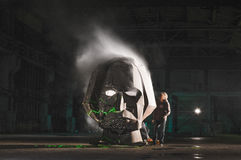 Head gogol fest hangar art smoking face Stock Photos
