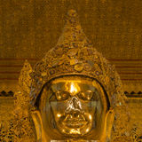 Head of golden Buddha Royalty Free Stock Photo