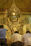 Head of golden Buddha Royalty Free Stock Image