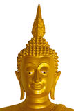 Head of golden Buddha statue. Stock Images