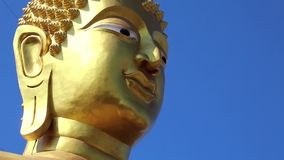 Head of Golden Buddha statue Royalty Free Stock Image