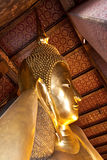 Head of golden buddha Stock Photo
