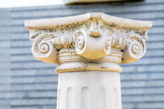 Head of Greek Column Stock Photo