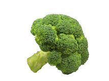 Head of green broccoli asparagus lat. Brassica oleracea, Brassica sylvestrison Royalty Free Stock Images