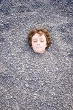 Head in the ground 02. Keeping your head above ground Royalty Free Stock Photo