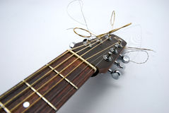 Head guitar. In closeup on a white background Royalty Free Stock Photo