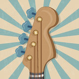 Head of the guitar banner Stock Photo