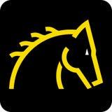 head hästvektor stock illustrationer