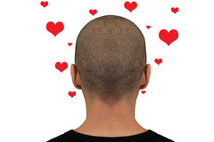 Head with hearts royalty free stock image