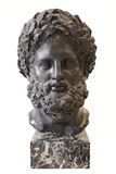 Head of Heracles, Italy, 19th century, Basalt.  Hermitage, St. Petersburg, Russia Royalty Free Stock Image
