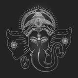 Head of Hindu god Ganesha. Royalty Free Stock Photography