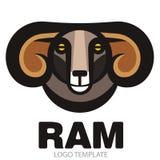 Head of horned dark ram Royalty Free Stock Photos