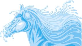 Head of horse from water waves Royalty Free Stock Image
