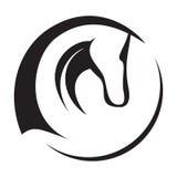 head hästsymbol Royaltyfri Bild