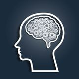 head human för kugghjul vektor illustrationer