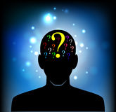 Head of the human mind Stock Images