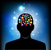Head of the human mind Stock Photography