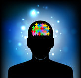 Head of the human mind Royalty Free Stock Image