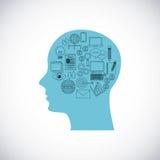 Head human profile business icon Stock Image