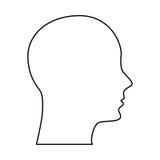 Head human profile icon. Illustration design vector illustration