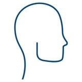 Head human profile icon. Illustration design Stock Photo