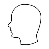 Head human profile icon. Vector illustration design vector illustration