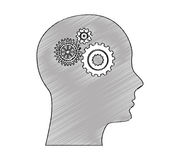 Head human profile isolated icon Royalty Free Stock Image