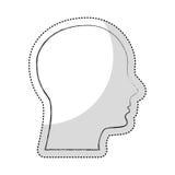Head human profile isolated icon Royalty Free Stock Photo
