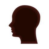 Head human profile isolated icon Royalty Free Stock Photos