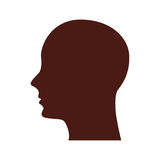 Head human profile isolated icon Stock Photography