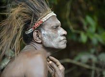 Head hunter of a tribe of Asmat Royalty Free Stock Photos