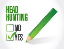Head hunting checklist illustration design Royalty Free Stock Photo