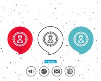 Head hunting line icon. Business target sign. Royalty Free Stock Photography