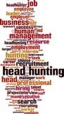 Head hunting word cloud. Concept. Vector illustration stock illustration