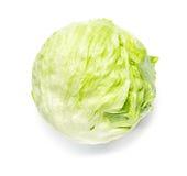 Head of Iceberg Lettuce. On White royalty free stock photo