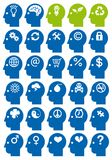 Head icon set, vector Royalty Free Stock Photography