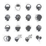 Head icon set. /16 vector for design Royalty Free Stock Photos