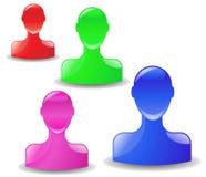 Head Icons Stock Photography