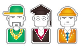 Head icons Royalty Free Stock Photo