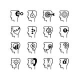 Head icons Stock Photography