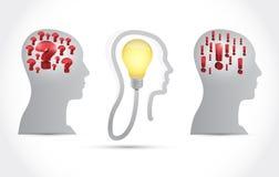 Head idea concept illustration design Stock Photography