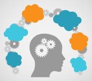 Head Ideas Cogs Stock Photo
