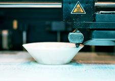 3d printer in action. royalty free stock photos