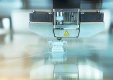 Head of industrial 3d printer. Head of industrial 3d printer in action stock photos