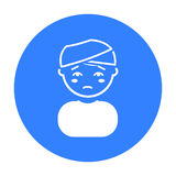 Head injury icon. Single sick icon from the big ill, disease. Stock vector Stock Image